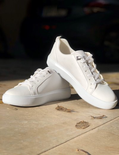 Ανδρικά λευκά Casual Sneakers με κορδόνια TL89026Q
