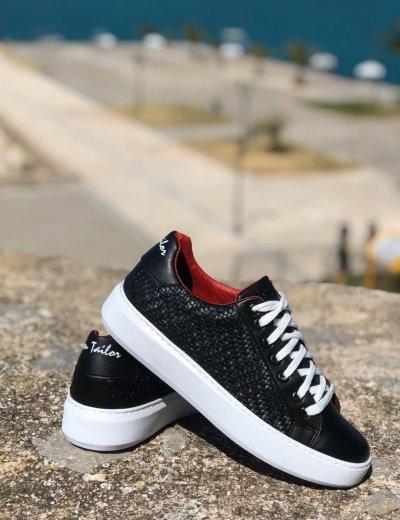 Ben Tailor The Braid ανδρικά μαύρα παπούτσια 208720
