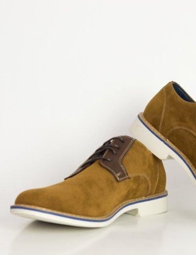 Ανδρικά κάμελ σουέντ δετά παπούτσια Casual EL0636R