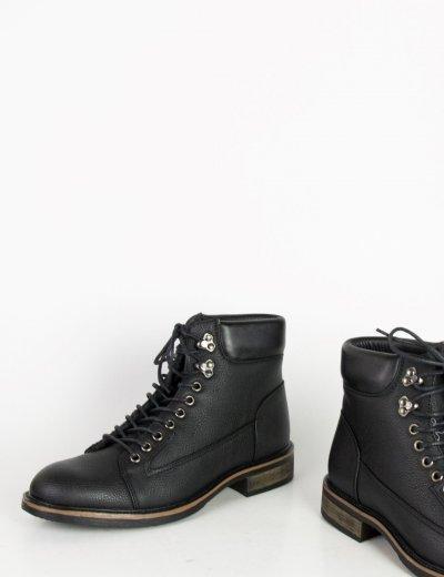 Ανδρικά αρβυλάκια Biker μαύρα EL0568