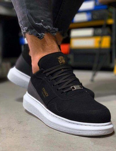 Ανδρικά μαύρα Sneakers με διχρωμία  0392020M
