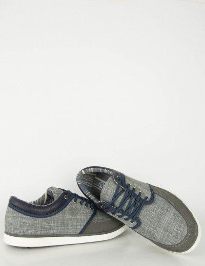 Ανδρικά Casual παπούτσια γκρι χαμηλά κορδόνια R85180G