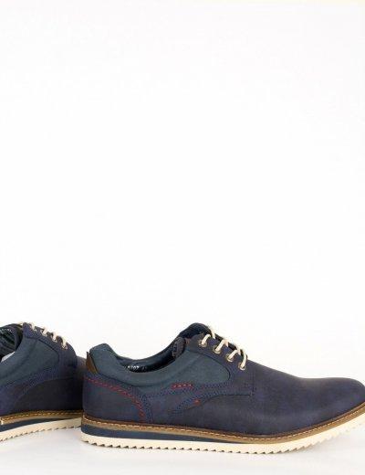 Ανδρικά μπλε δετά παπούτσια με κορδόνια EL0707N