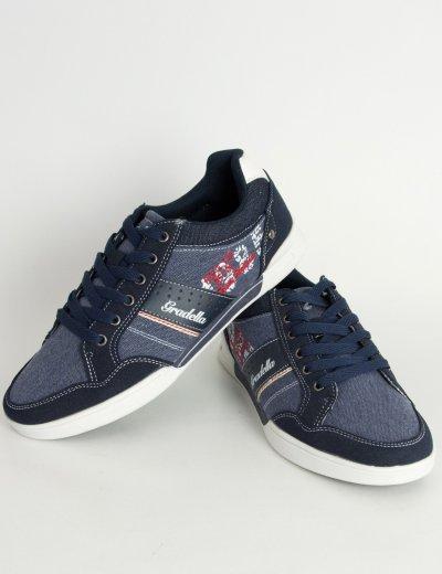 Ανδρικά Casual παπούτσια μπλε χαμηλά κορδόνια K70422W