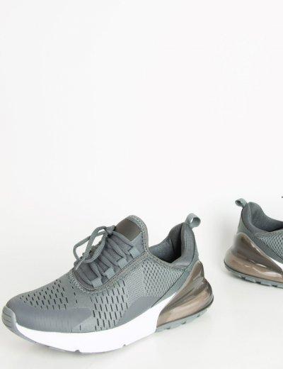 Ανδρικά γκρι αθλητικά παπούτσια διχρωμία 11115
