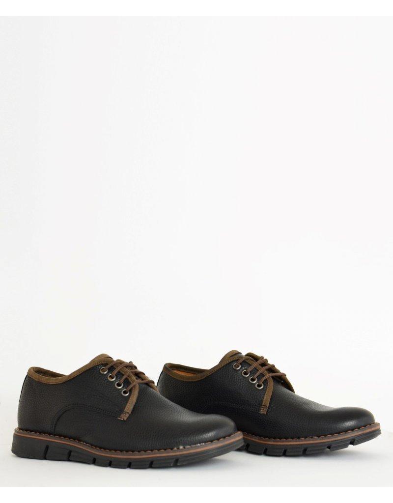 -47% Ανδρικά δερμάτινα παπούτσια Nice Step μαύρα δετά 772 1eecb27a9cf