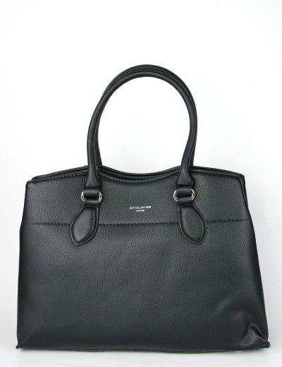 Γυναικεία μαύρη τσάντα ώμου μονόχρωμη David Jones CM5352