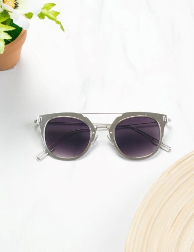 Huxley and Grace ασημί μεταλλικά γυαλιά HG3012B