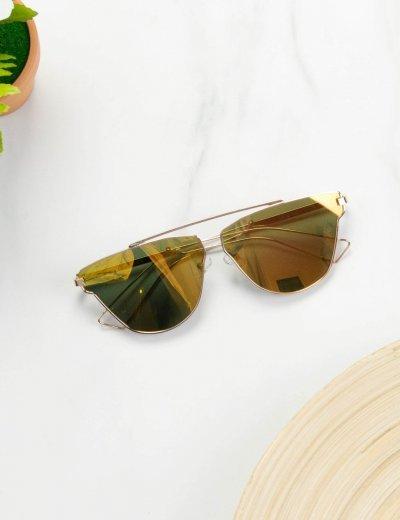 Γυναικεία Γυαλιά Ηλίου Χρυσά S7138Q