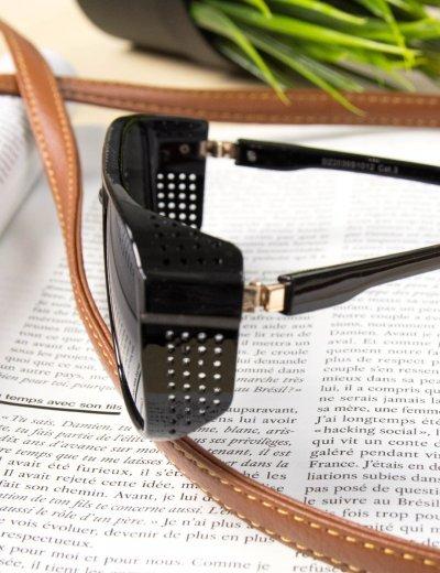 Γυναικεία μαύρα ματγυαλιά ηλίου οβάλ Premium S1010C
