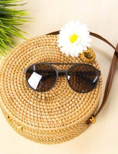 Γυναικεία καφέ γυαλιά ηλίου οβάλ Premium S1010Q