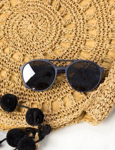 Γυναικεία μπλε γυαλιά ηλίου οβάλ Premium S1010L