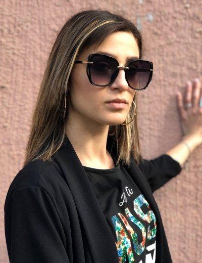 Γυναικεία μαύρα ντεγκραντέ γυαλιά ηλίου κοκκάλινα Premium S1101