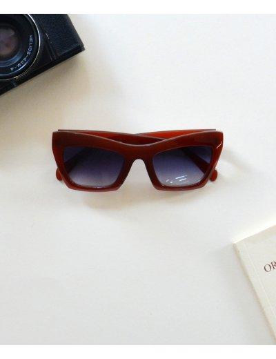 Γυναικεία γυαλιά ηλίου πεταλόυδα καφέ Handmade S6214