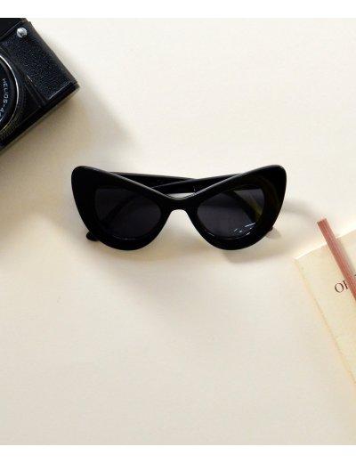 Γυναικεία γυαλιά ηλίου cat eye μαύρα Handmade S6203F