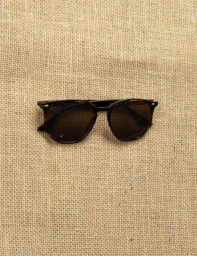 Γυναικεία καφέ γυαλιά ηλίου με λεοπάρ κοκκάλινο σκελετό Luxury S5082R