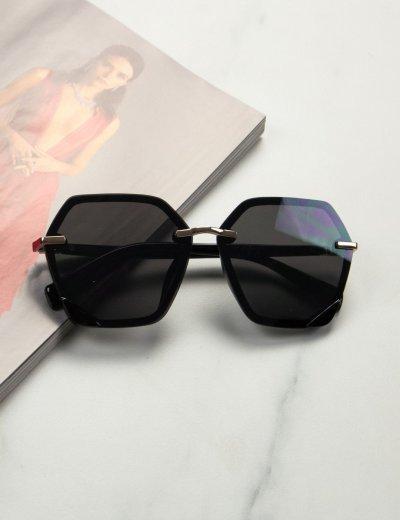 Γυναικεία μαύρα γυαλιά ηλίου με μαύρο σκελετό Premium S1104Κ