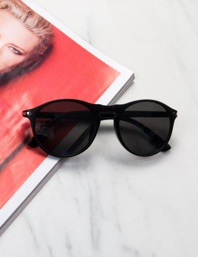 Γυναικεία μαύρα ματ γυαλιά ηλίου κοκκάλινα Luxury S1114M