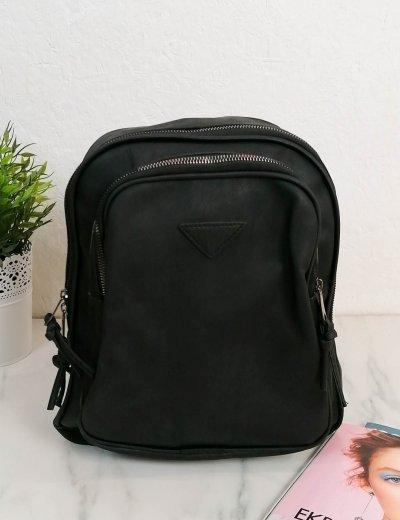 Γυναικεία μαύρη τσάντα ώμου με πορτοφόλι 210342