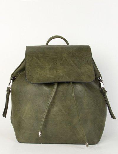 Γυναικείο χακί σακίδιο πλάτης πουγκί 9763V