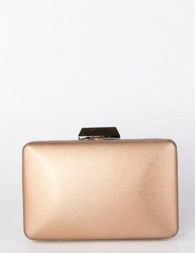 Γυναικείο μπρονζέ ιριδίζον Hardcase Clutch Bag αλυσίδα JKB23R