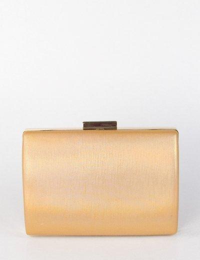 Γυναικείο χρυσό Hardcase Clutch Bag αλυσίδα JKB62G