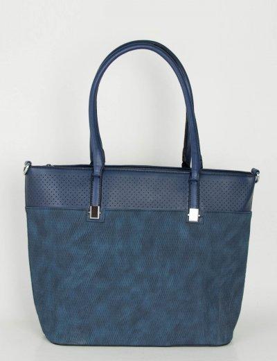 Γυναικεία μπλε κλασσική τσάντα ώμου ανάγλυφο σχέδιο 2023B