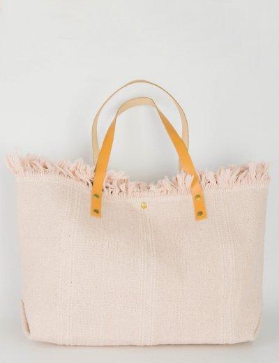 Γυναικεία ροζ τσάντα ώμου υφασμάτινη κρόσια 5902R