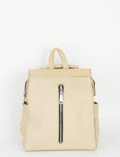 Γυναικείο μπεζ Mini Backpack υφασμάτινη επένδυση A250M