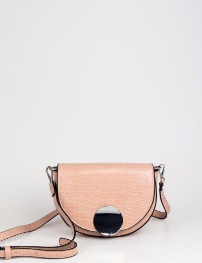 Γυναικείο ροζ Croco τσαντάκι ώμου DM13P