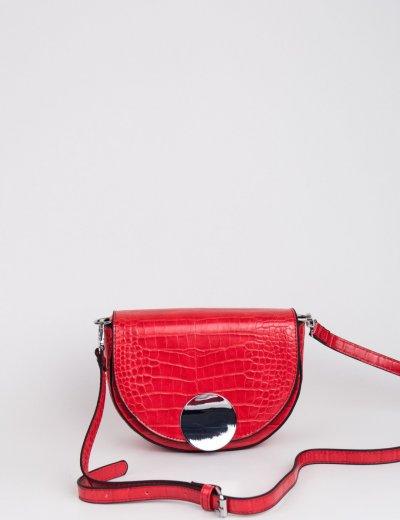 Γυναικείο κόκκινο Croco τσαντάκι ώμου DM13R