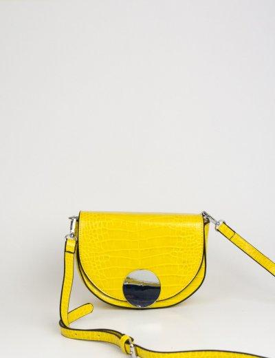 Γυναικείο κίτρινο Croco τσαντάκι ώμου DM13Y
