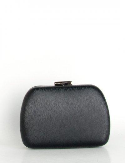 Γυναικείο μαύρο τσαντάκι Hardcase Clutch ιριδίζον B2019