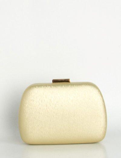Γυναικείο χρυσό τσαντάκι Hardcase Clutch ιριδίζον B2019L