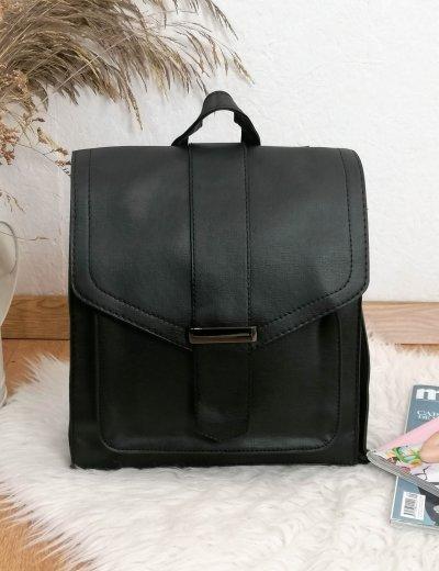 Γυναικείο μαύρο τετράγωνο Backpack 628628M
