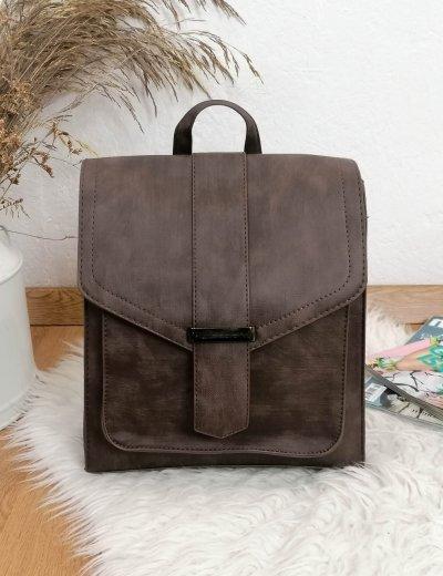 Γυναικείο καφέ τετράγωνο Backpack 628628K