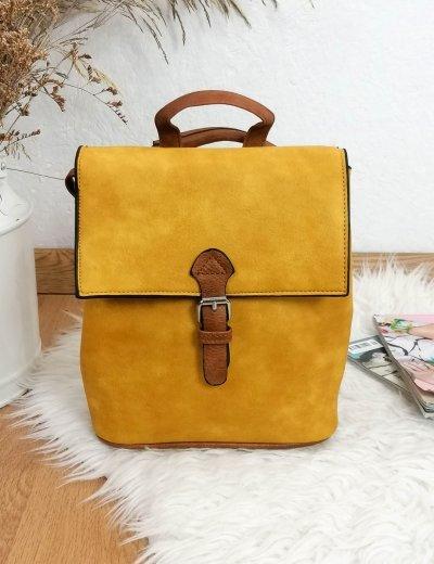 Γυναικείο ώχρα τετράγωνο Mini Backpack 207207O