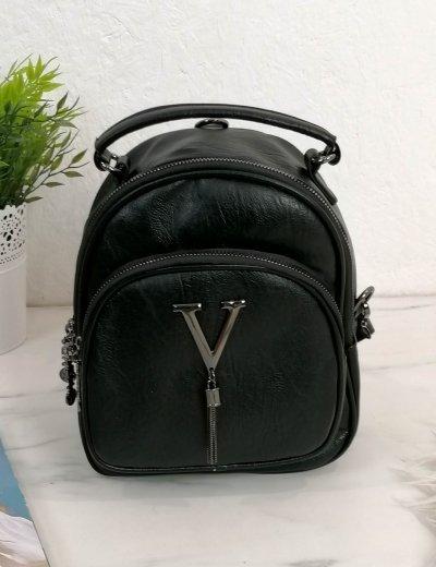 Γυναικείο μαύρο mini Backpack 00620