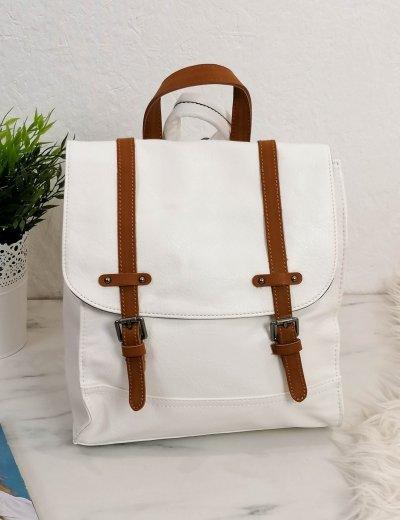 Γυναικείο λευκό Backpack με λουράκια 20061L
