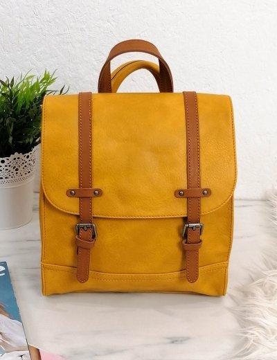 Γυναικείο ώχρα Backpack με λουράκια 20061V