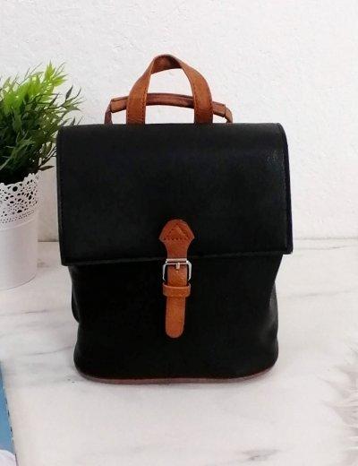 Γυναικείο μαύρο τετράγωνο Mini Backpack 207207