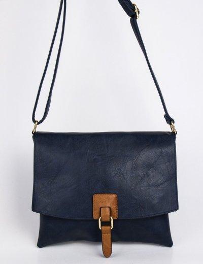 Γυναικεία μπλε τσάντα χιαστί δερματίνη 9340124R