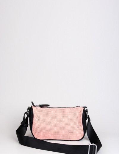 Γυναικείο ροζ σπορ τσαντάκι με δίχτυ A517R