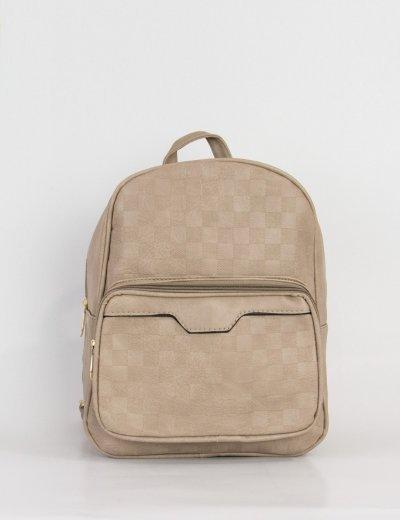 Γυναικείο γκρι Mini Backpack ανάγλυφο σχέδιο 30630L