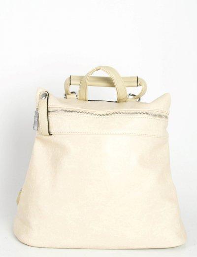 Γυναικείο μπεζ backpack μονόχρωμο δερματίνη A297W
