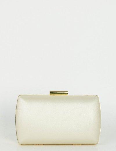 Γυναικείο ασημί Hardcase Clutch Bag αλυσίδα JKB82Q