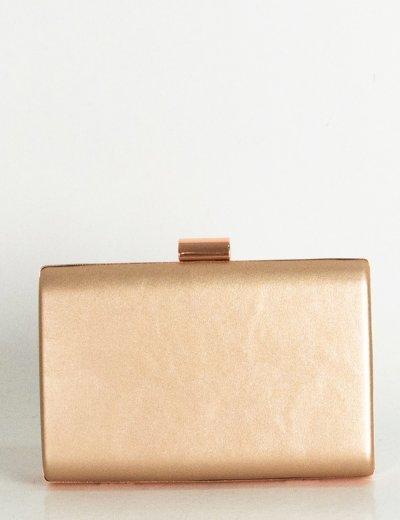 Γυναικείο σαμπανιζέ τσαντάκι Hardcase Clutch δερματίνη 55519F