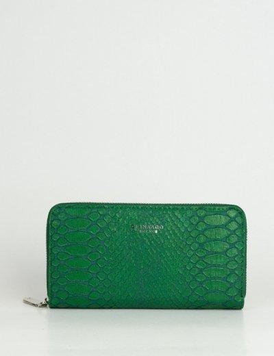 Γυναικείο πράσινο πορτοφόλι με κρόκο σχέδιο DFX18932P