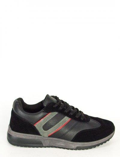Ανδρικά μαύρα Casual παπούτσια κορδόνια διχρωμία 201820