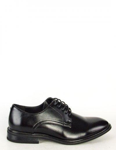 Ανδρικά μαύρα δετά παπούτσια με κορδόνια 00A9030LG